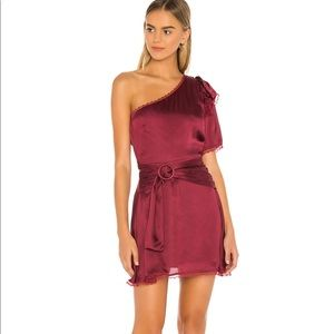Tularosa Fia Dress in Cabernet Red